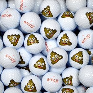 Emoji EMGBB006 Lot de 100 Balles de Golf Mixte Adulte, Blanc, N/A