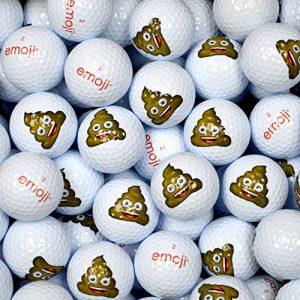 Emoji EMGBB006 Lot de 100 Balles de Golf Mixte Adulte, Blanc, N/A