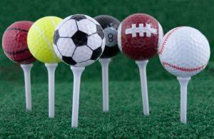 Ensemble de 6 balles de Golf + 6 longues Tees – grand cadeau pour tout golfeur * boîte-cadeau *