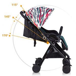 GUO Métal léger peut rapidement prendre couché poussette pliante chariot de suspension de poussette