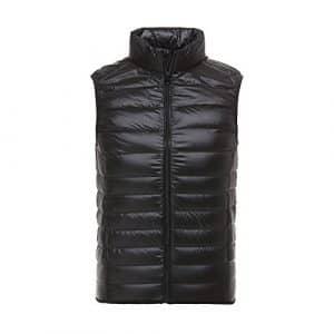 Homme Doudoune Sans Manch Ultra Légèree Veste Duvet Zippée Gilet Matelassée Hiver Noir XL