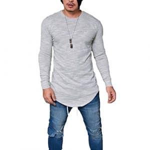 Juleya Basic Chemise à manches longues – Sweatshirt à col rond pour hommes Sweat-shirt à capuche pour automne-hiver
