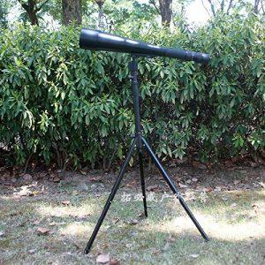 Lihong Élégant Entièrement Métallique Portatif 60 X 66 Monocylindre Zoom Haute Définition Télescope, Équipement De Sports De Plein Air Noir