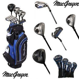 MacGregor DCT en acier/Graphite Avec Sac chariot–Noir/Blanc/Bleu, Taille 0