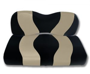 Madjax WAVE 2007-Up Black/Tan Front Seat Cover for Yamaha G29 Drive Golf Carts by Golf Cart King