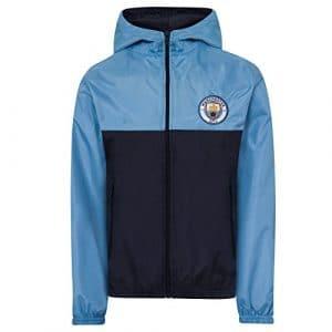 Manchester City FC officiel – Coupe-vent/Imperméable thème football – garçon – 12-13 ans