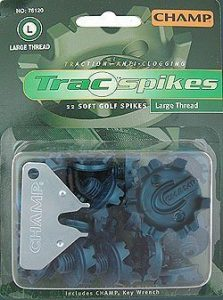 New Champ Golf Trac Spikes Blister Pack Large Thread 22ct by Champ