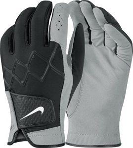 Nike All Weather III–Regular Pair Gants pour homme Noir/blanc/gris foncé, Homme, Taille S