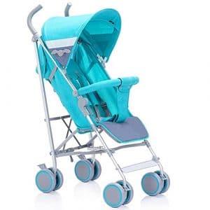 Qian Vous pouvez vous asseoir ou se coucher super poussette légère bébé quatre ombre pliage d'amortissement