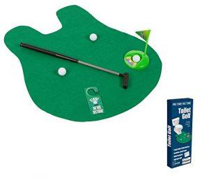 Toilettes Golf – Jouer au golf sur toilettes – Mat avec le putter, la Grande-cadeau