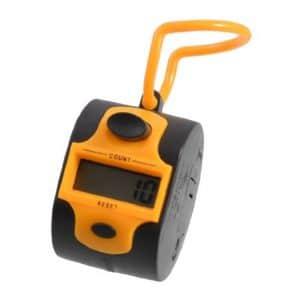 TOOGOO(R) Orange noir en plastique 5 Nombre Golf numerique compteur de main Tally