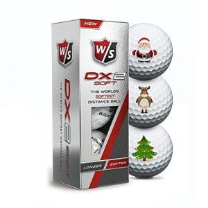 Wilson Staff DX2 Soft Christmas Golfbälle – 3er Pack