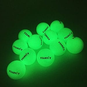 Yeahviy Night Golf Balls,Best Hitting Ultra Bright Long Lasting Reusable Bright Night Glow Golf Ball by Sun light (12 Pack)