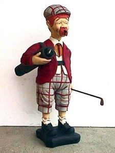 Âge golfeur verkleinert 105cm pour l'extérieur en polyrésine