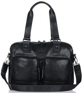 Binlion Taikes Unisex PU Leather Shoulder Bags du sac à dos en cuir Sacs à dos enfant ordinateur portable Sacs à dos Sacs à dos loisir Sacs scolaires cartables sac de coursier