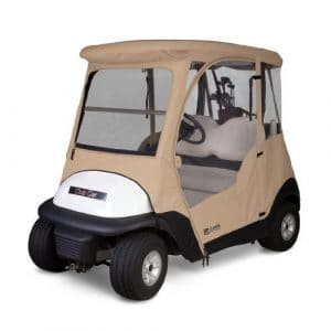Classic Accessories Fairway Deluxe 4-Sided 2-Person Golf Cart Enclosure For Club Car, Tan by Fairway