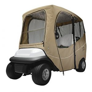 Classic Accessories Fairway Golf Cart Deluxe Enclosure, Khaki, Short Roof by Classic Accessories