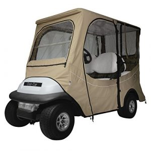 Classic Accessories Fairway Golf Cart FadeSafe Enclosure for Club Car, Long Roof, Khaki by Classic Accessories