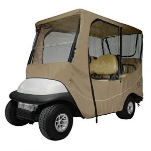 Classic Accessories Fairway Golf Cart Travel Enclosure, Khaki, Long Roof by Classic Accessories