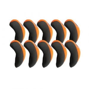 Elixir Golf Iron Club Head Covers-Set of 10, Gray/Orange by Elixir Golf