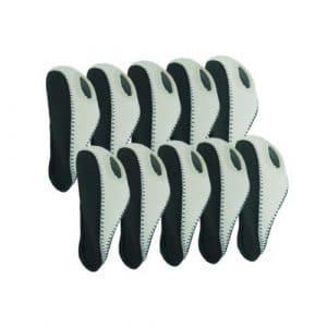 Elixir Golf Iron Club Head Covers-Set of 10, Gray/White by Elixir Golf