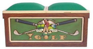 Golf Banque lebensgroß 55cm pour intérieur en polyrésine