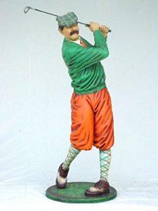 Golfeur classique lebensgroß 190cm pour l'extérieur en fibre de verre haute qualité plastique (GFK)