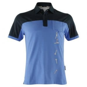 Golfjunkie polo pour homme double bogey SMALL Bleu – Bleu roi