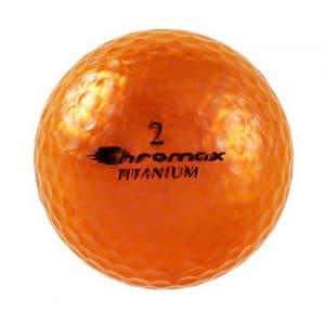 Haute visibilité Chromax M1X Balles de golf, Lot de 6balles (nouvelle version), mixte, Orange