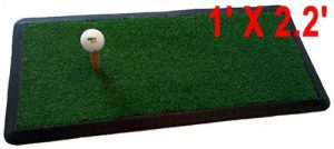 Heavy Duty GOLF HITTING PRACTICE MAT Chipping Driving Launch Pad net 1′ x 2.2′ by MBSellers by Myrtle Beach Sellers