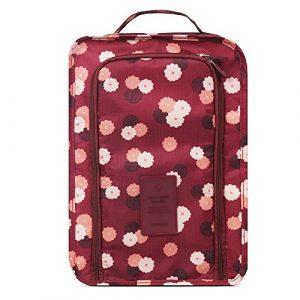 HOMPO Organiseur de bagage, Wine Red Flower (rouge) – SP12 SPG0112 AA