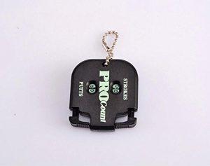 Kingken dédiée de putt de golf Mark Sport Scoreur marqueur Keychain (Noir)