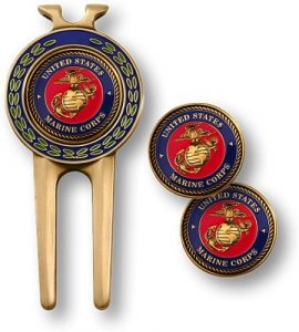 Marine Corps Divot Tool and Ball Markers by Northwest Territorial Mint