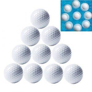marketboss 10délicat Double Couche Balles de golf flottant flottants Gamme Golf Balles de golf pour professionnels Idéal pour l'eau de Golf