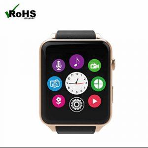 Montre Connectées Sports Montre Bluetooth Smartwatches,Appareil photo à distance,fréquence cardiaque Smart,dormir moniteur,Fitness Tracker,Extrêmement Mince Souple avec Sync pour Android IOS Smart Phone