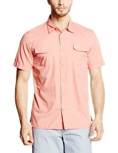 Oxbow Castry Chemise Homme Pêche FR : M (Taille Fabricant : M)