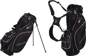 Spalding Sac de golf avec support–Noir, 22,9cm