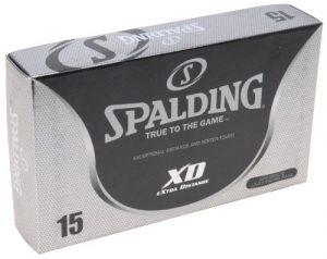 Spalding Xd15 Lot de 15 balles de golf Jaune