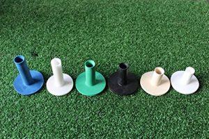 Tapis de golf en caoutchouc tees Lot de 6(2x Cross tees inclus) pour tapis de golf Pratiquer