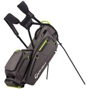 TaylorMade Golf 2017 FlexTech Stand Bag Mens Carry Bag 5-Way Divider Grey/Green