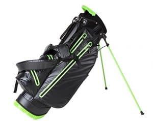 Ultra Lite Sac de golf trépied imperméable poches Lift Poignée seulement 2kilogram. 4couleurs disponibles, noir/vert