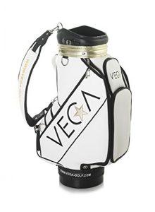 Vega Blanc Sac de golf–22,9cm Tour est livré avec un gratuit assorti Vega Casquette de golf + Lot d'environ 20Vega tees de golf