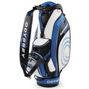 2016 Callaway Odyssey Works Cart Tour Bag Mens Golf Staff Bag-6 Way Divider White/Royal