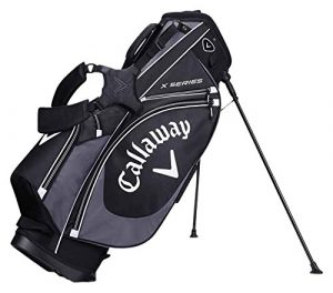 Callaway 2017 X Series Stand Bag Mens Golf Carry Bag-6 Way Top Black/Charcoal/White