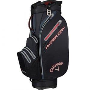 Callaway 2018 Hyper Dry Cart Bag Mens Golf Trolley Bag 15-Way Divider Black/Titanium/Red