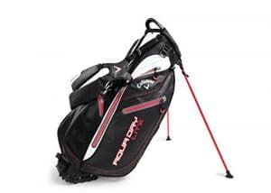 Callaway Aqua Dry Lite Sac de golf avec support, Noir/blanc/rouge