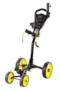 Callaway Golf- Trek 4Roue Compact Push Cart, mixte, Trek Push Cart, noir/jaune