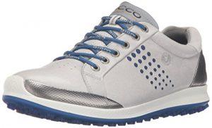 Ecco ECCO MEN'S GOLF BIOM HYBRID 2, Chaussures de Golf homme – Ivoire – Elfenbein (CONCRETE/ROYAL59015), Taille 40