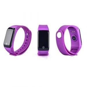 Fitness tracker, moniteur de fréquence cardiaque tracker, Smart Watch sang oxygène pression moniteur de fréquence cardiaque podomètre Smart Bracelet, violet