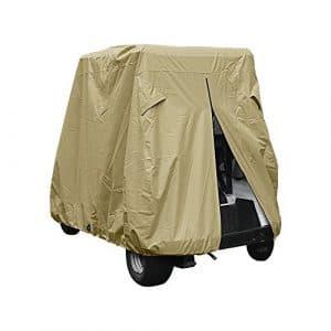Golf Cart Couverture universelle étanche Sun étanche à la poussière électrique/gaz de golf Cars Coque, compatible avec boîtier pour club de voiture, Ezgo, Yamaha disque